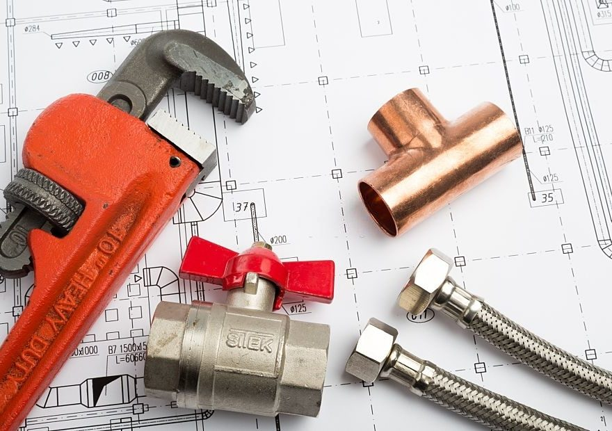 Hand Tools on Blueprint